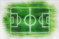 Футбол или футбольное поле сделанные из плиток сердца бесплатная иллюстрация