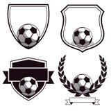 Футбол или эмблемы футбольного клуба Стоковое фото RF