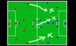 футбол кареты доски Стоковое Изображение