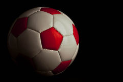 футбол красного цвета шарика Стоковое Фото