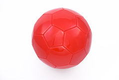 футбол красного цвета шарика Стоковое фото RF
