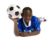 футбол мальчика стоковое фото rf