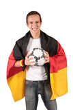 футбол немца вентилятора Стоковое фото RF