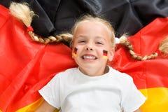 футбол немца вентилятора Стоковое Изображение RF