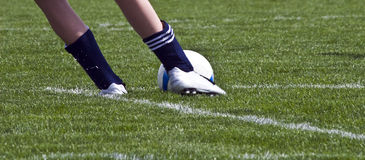 футбол ног шарика Стоковое Фото