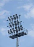 футбол освещает стадион Стоковое фото RF