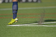 футбол пинком Стоковое Фото