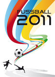 футбол плаката Стоковые Фотографии RF