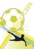 футбол плаката иллюстрация штока