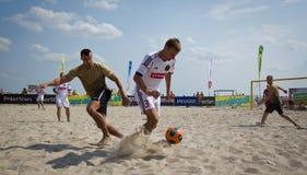 Футбол пляжа стоковая фотография rf