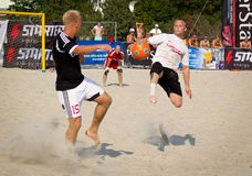 Футбол пляжа стоковое изображение rf