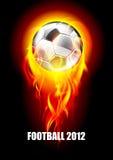 футбол пожара шарика предпосылки иллюстрация штока