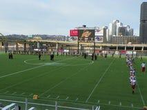 Футбол поля Питтсбурга PA/Highest горизонта стоковые изображения rf