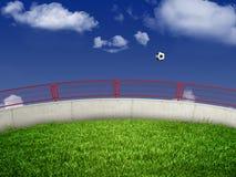 футбол поля Стоковые Изображения RF