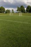 футбол поля unoccupied Стоковая Фотография RF