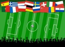футбол предпосылки Стоковое Изображение RF