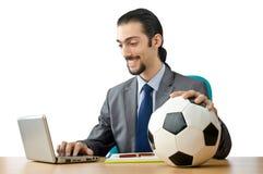 футбол принципиальной схемы бизнесмена Стоковая Фотография RF