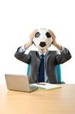 футбол принципиальной схемы бизнесмена Стоковое фото RF