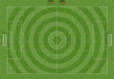 футбол разрешения поля высокий иллюстрация вектора