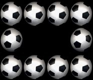 футбол рамки шарика Стоковое Изображение RF