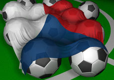 футбол республики перевода флага шариков 3d чехословакский Стоковая Фотография RF