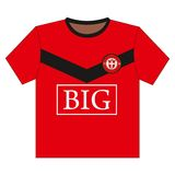 футбол рубашки футбола Стоковые Фотографии RF