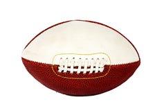 Футбол рэгби, кроет кожей изолированный на белой предпосылке Шарик для рэгби Шарик для американского футбола Стоковая Фотография