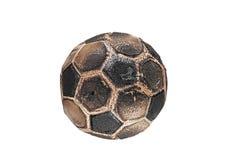 футбол сгорели шариком, котор Стоковые Изображения