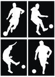 футбол силуэта Стоковое фото RF