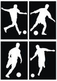 футбол силуэта Стоковое Изображение RF