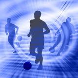 футбол силуэта Стоковая Фотография