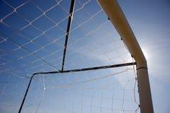 футбол силуэта Стоковое Изображение