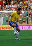 футбол спички Алжира Бразилии содружественный против Стоковое Фото