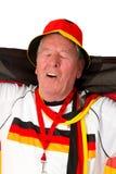 футбол старшия вентилятора Стоковые Фото