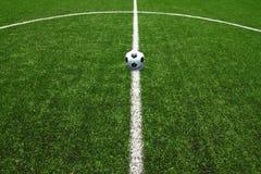 футбол травы поля шарика Стоковое фото RF