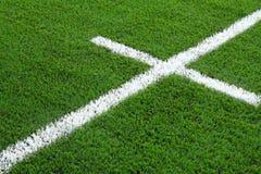 футбол травы поля Стоковая Фотография