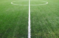 футбол травы поля Стоковое Фото
