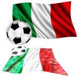 футбол флага Италия Стоковые Фотографии RF
