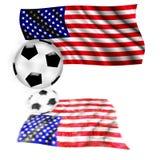 футбол флага США Стоковое Изображение