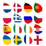 футбол флага Стоковое фото RF