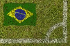 футбол флага стоковая фотография rf