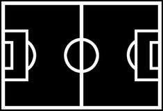 футбол формы поля стоковая фотография
