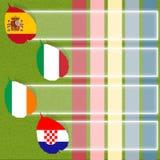 футбол футбола флага Стоковая Фотография RF