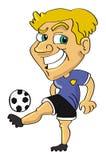 футбол футболиста Стоковое Изображение RF