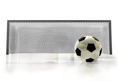 футбол цели шарика Стоковое Изображение