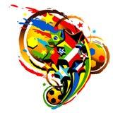 футбол чашки Стоковая Фотография