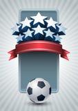 футбол чемпионата знамени Иллюстрация штока