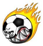 футбол шарика горящий Стоковые Фотографии RF