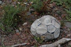 футбол шарика старый стоковое изображение rf