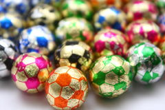 футбол шоколадов шарика стоковое фото